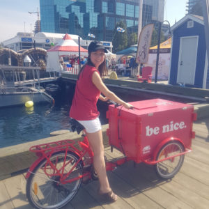 Roots Canada Icicle Tricycle Ice Cream Bike on the Halifax Pier
